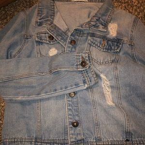 Distressed Jean Jacket- Really good condition